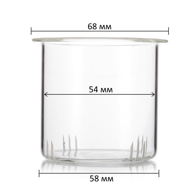 Фильтр стеклянный для заварочного чайника 600 мл (диаметр 58 мм)