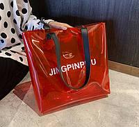 Большая прозрачная сумка шоппер Jingpinpiju
