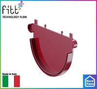 FITT пластиковые водосточные системы. Заглушка желоба Fitt 125 красный