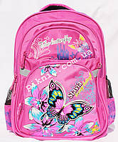 Школьный ортопедический ранец 1, 2 класс для девочек. Рюкзак, портфель первоклассника. Бабочка для школы