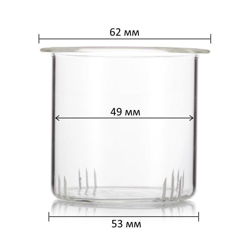 Фильтр стеклянный для заварочного чайника 400 мл (диаметр 53 мм)