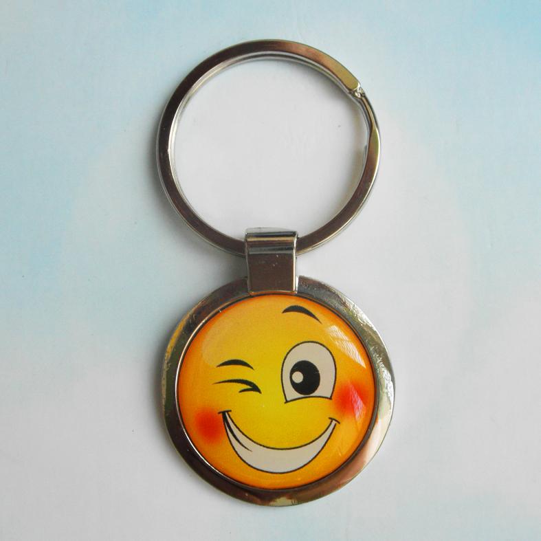 """Брелок для ключей металлический сувенирный """"Смайлик"""". Арт - 10"""