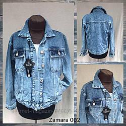 Куртка женская джинсовая 002 на пуговицах S-XL (деми)