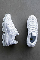 Женские кроссовки Nike Air VaporMax Plus White \ Найк Вапормакс Белые \ Жіночі кросівки Найк Вапормакс Білі