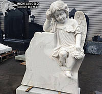 Мраморный детский памятник с ангелом