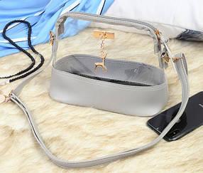 Прозрачные силиконовые сумки с брелком оленем