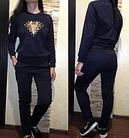 Женский стильный костюм с паетками, размер 46, 48