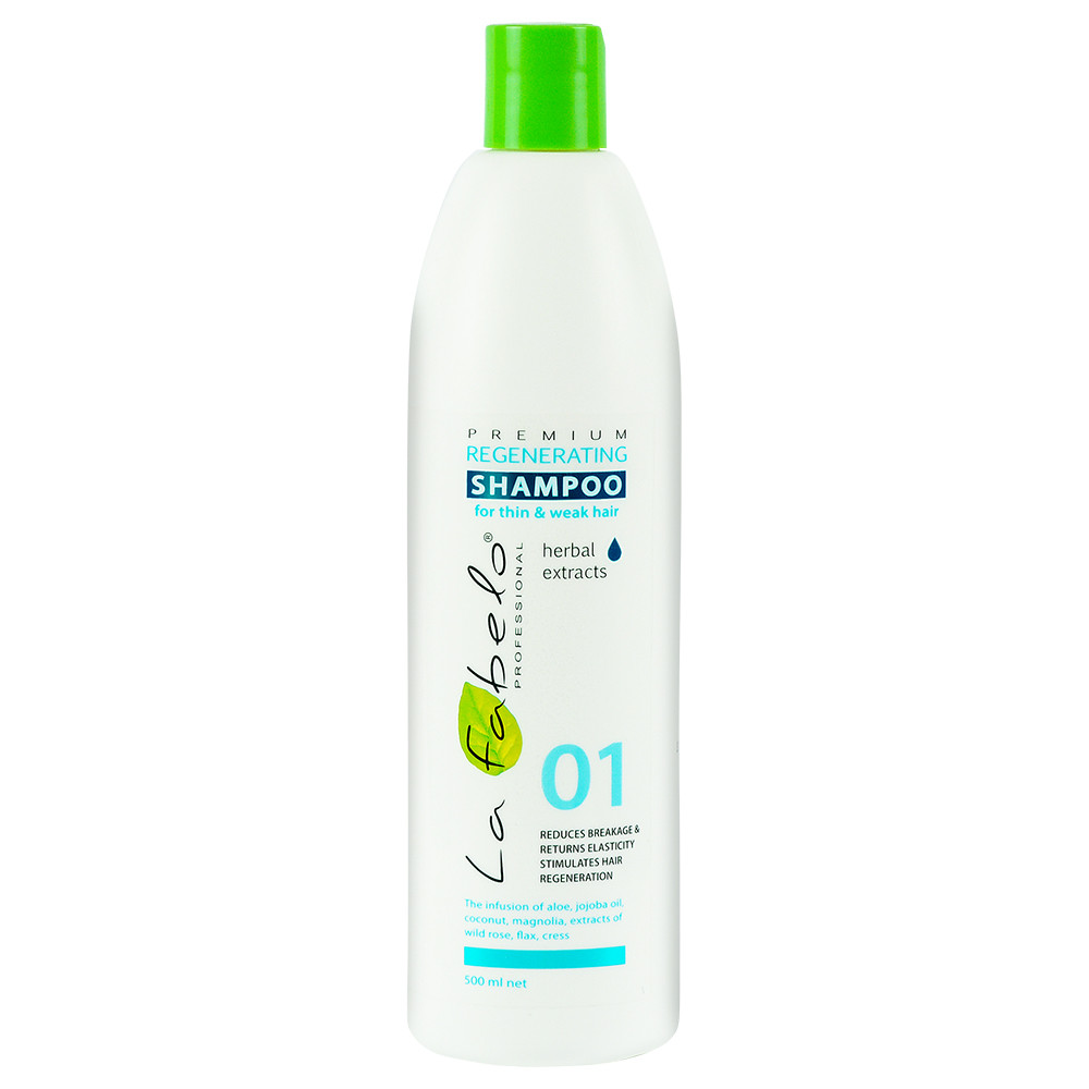 Шампунь La Fabelo Premium 01 Regenerating регенерирующий для тонких и слабых волос 500мл