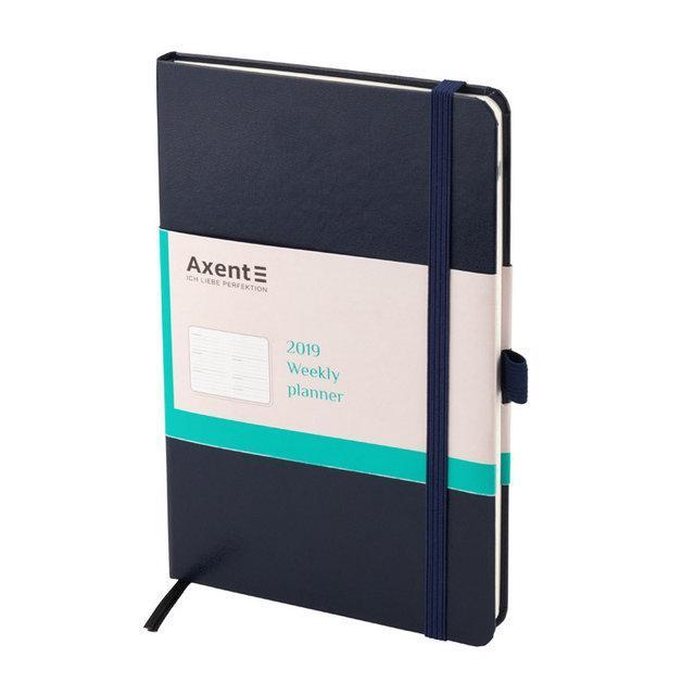 Еженедельник 2019 Axent Strong 8505-02-A, А5-, 96 листов, синий
