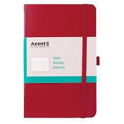 Еженедельник 2019 Axent Strong 8505-05-A, А5-, 96 листов, красный