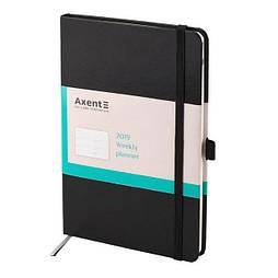 Еженедельник 2019 Axent Strong 8505-01-A, А5-, 96 листов, черный