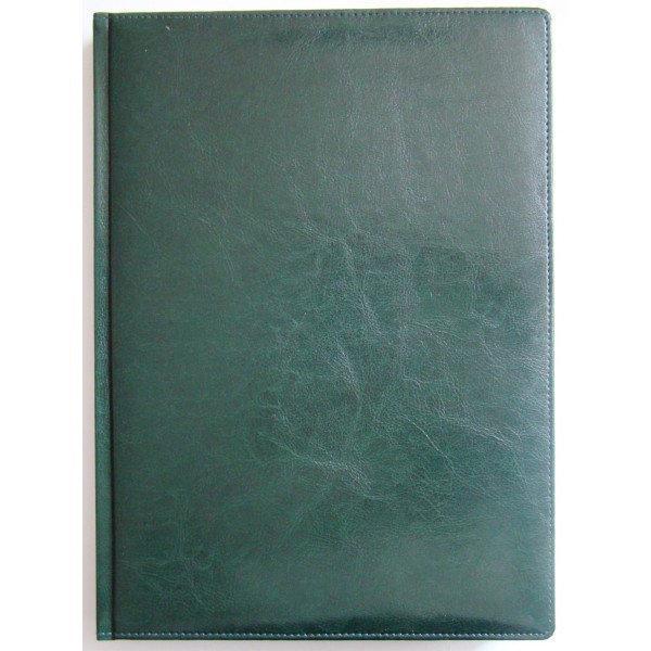 Ежедневник недатированный BRISK OFFICE SARIF А4, линия, 176 листов, кремовая бумага зеленый