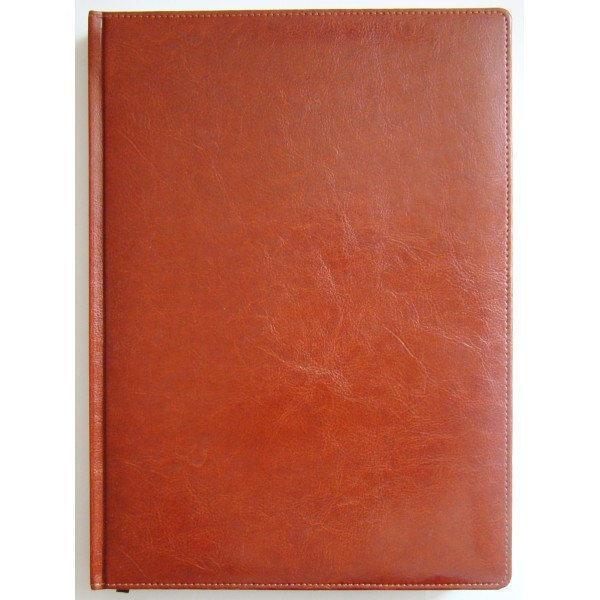 Ежедневник недатированный BRISK OFFICE SARIF А4, линия, 176 листов, кремовая бумага коричневый