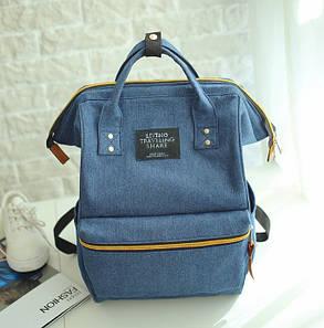 Каркасный джинсовый рюкзак-сумка, фото 2