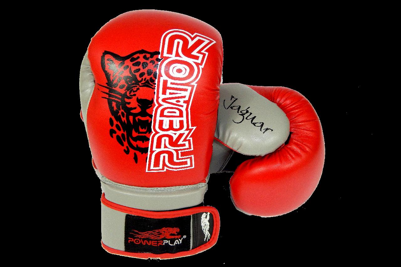 Боксерские перчатки PowerPlay 3008 Красные 8 унций