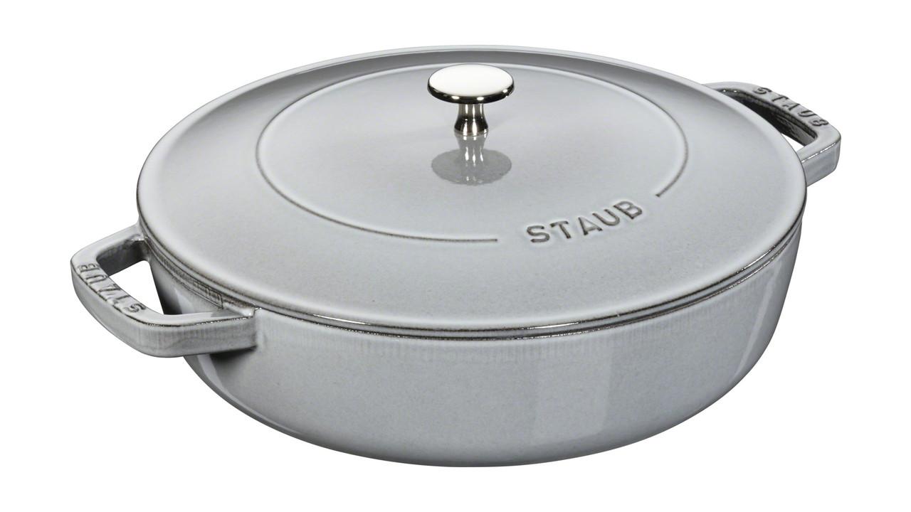 Сотейник с крышкой Staub 28 cм серый 12612818