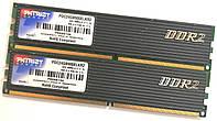 Пара оперативной памяти Patriot DDR2 4Gb (2Gb+2Gb) 1066MHz 8500U CL5 (PDC24G8500ELKR2) Б/У, фото 1
