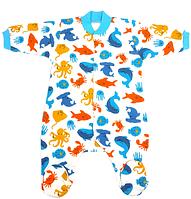 Чоловічок водний світ з довгим рукавом для немовлят