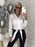 Рубашка женская стильная белая чёрная хаки бордо голубая розовая, фото 1