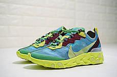 Мужские кроссовки Nike React Element 87 x Undercover Lakeside Electric Yellow BQ2718-400, фото 2