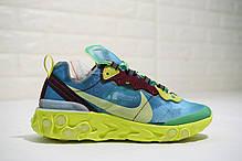 Мужские кроссовки Nike React Element 87 x Undercover Lakeside Electric Yellow BQ2718-400, фото 3