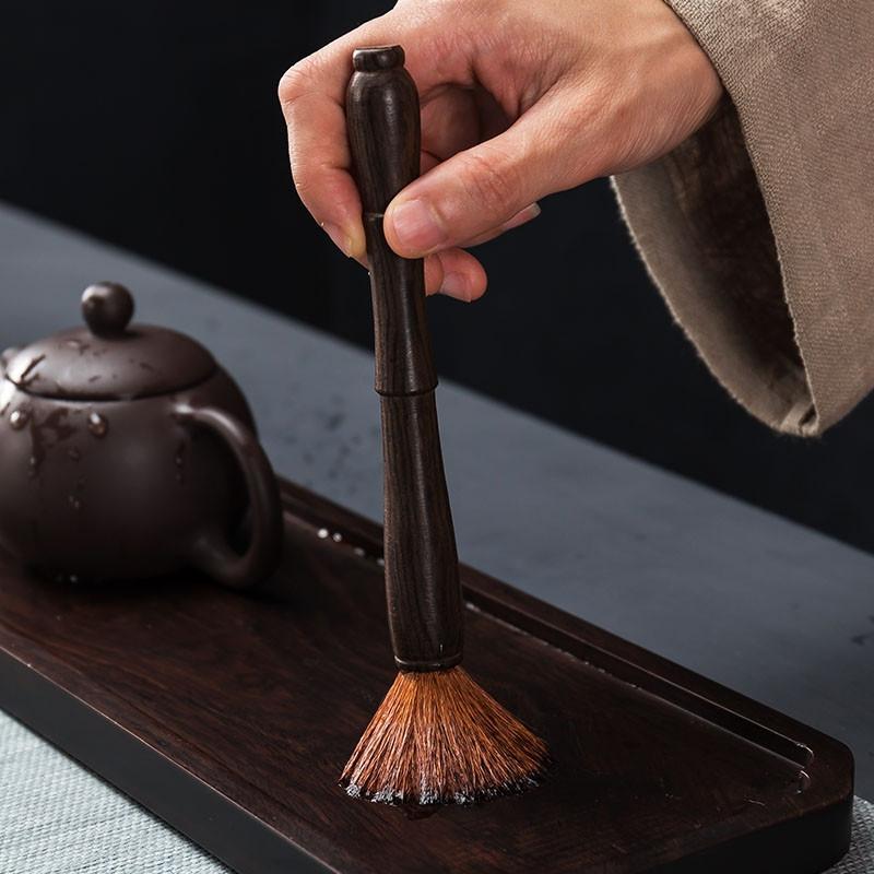 Кисточка для чайной церемонии 18,5*1,8 см, черное дерево