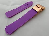 Ремешок к женским часам HUBLOT - фиолетовый, застежка, фото 1