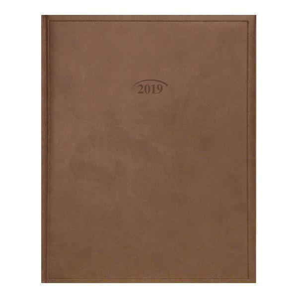 Еженедельник 2019 Бюро Torino слп/т коричневый