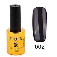 Гель-лак FOX №002 12 мл Чорний