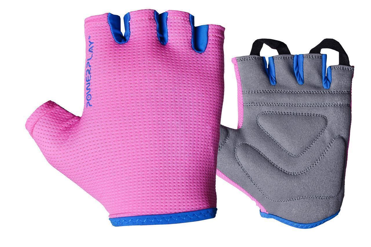 Перчатки для фитнеса PowerPlay 3418 женские Розовые S