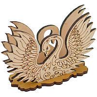 Деревянная салфетница 11. Лебедь, фото 1