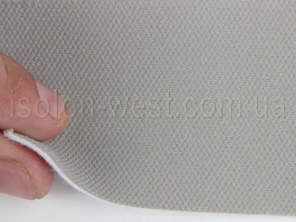 Ткань велюровая оригинальная потолочная, серая, з поролоновой подкладкой