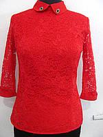 Оригинальная блуза.Застегивается на молнию сбоку. Рукавчик 3/4, спинка однотонная гладкая, р.44 код 3251М