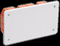 Коробка КМ41006 распаячная для твердых стен 172x96x45 (с саморезами, с крышкой)