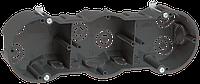 Коробка КМ40009 установочная 3х местная для твердых стен 212х70х45 (с саморезами)