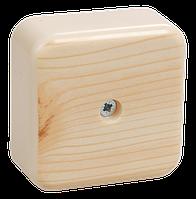 Коробка КМ41206-04 распаячная для о/п 50х50х20 мм сосна (4 клеммы 3мм2)