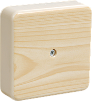 Коробка КМ41212-04 распаячная для о/п 75х75х20 мм сосна (6 клемм 6мм2)