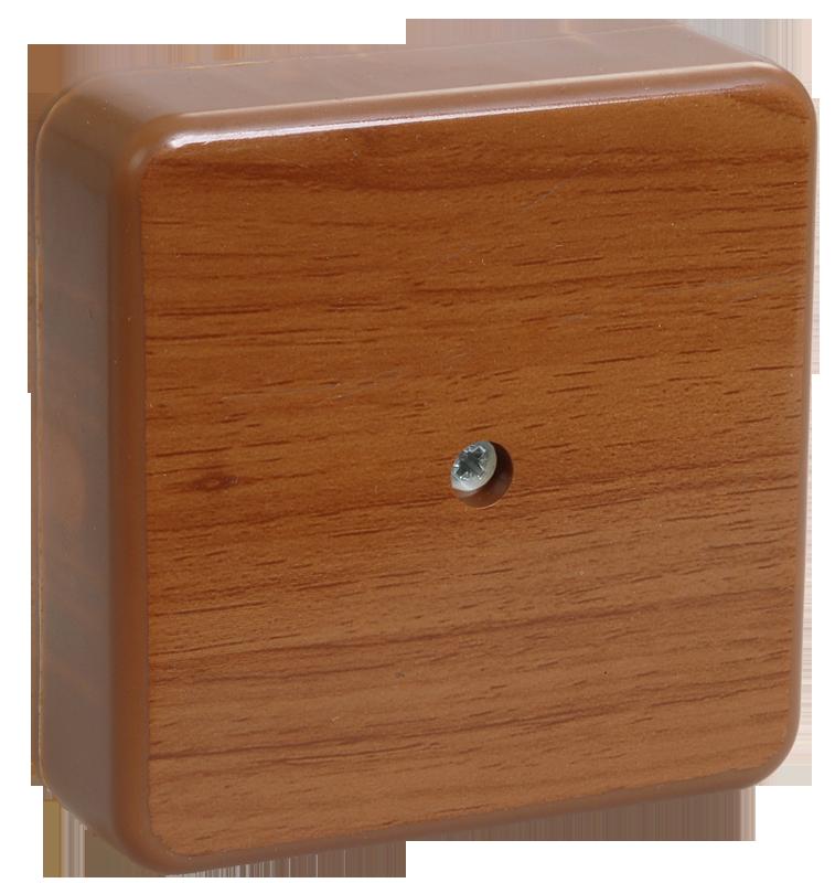 Коробка КМ41216-05 распаячная для о/п 75х75х28 мм дуб (6 клемм 6мм2)