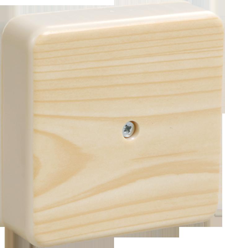 Коробка КМ41222-04 распаячная для о/п 104х104х44 мм сосна (6 клемм 6мм2)
