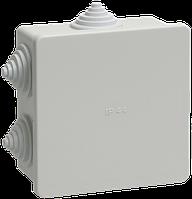 Коробка КМ41235 распаячная для о/п 85х85х40 мм IP44 (RAL7035, 6 гермовводов)