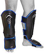 Защита голени и стопы PowerPlay 3052 Черно-Синий S / M / L / XL, фото 3