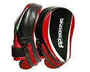 Лапы боксерские PowerPlay 3050 Черно-Красные PU [пара], фото 2
