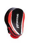Лапы боксерские PowerPlay 3050 Черно-Красные PU [пара], фото 3