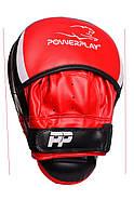 Лапы боксерские PowerPlay 3050 Черно-Красные PU [пара], фото 4
