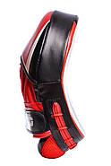 Лапы боксерские PowerPlay 3050 Черно-Красные PU [пара], фото 5