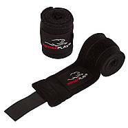 Бинты для бокса PowerPlay 3046 Черные (3м), фото 2