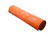 Коврик для фитнеса и йоги PowerPlay 4011 (173 * 61 * 0.8) Оранжевый, фото 2