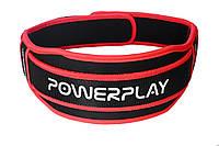 Пояс для тяжелой атлетики PowerPlay 5545 Черно-Красный (Неопрен) XS, фото 1
