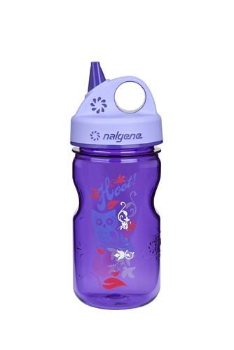 Бутылка для воды детская Nalgene Grip-n-Gulp Фиолетовая Hoot Art. 350 мл.