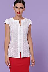 Літня біла блуза з прошвы